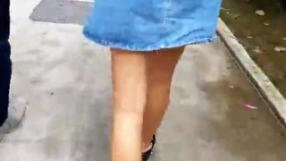 Nice Slim Tanned Toned Legs~ (Part 1/3) Wait for it. Upskirt is in part 3. #sggirls