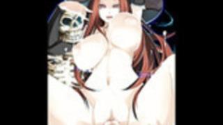幸せなハロウィーンの魔女